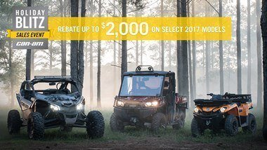 CAN-AM HOLIDAY BLITZ SALES EVENT- Maverick Rebates